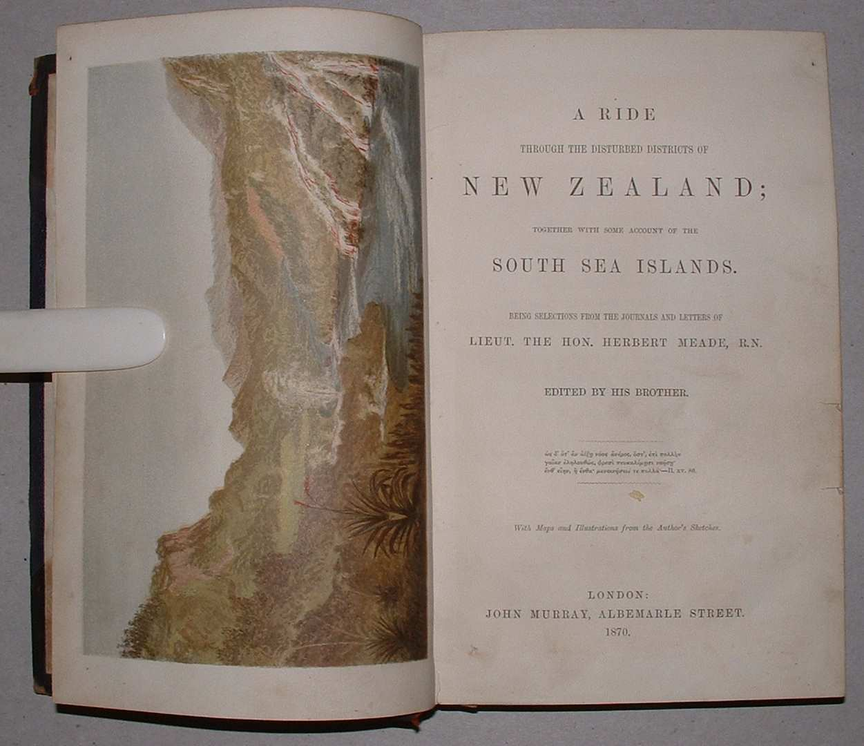 Image for A Ride Through the Disturbed Districts of New Zealand; Together with some account of the South Sea Islands