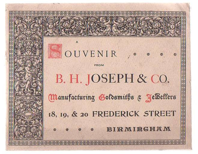 Image for A Souvenir From B. H. Joseph & Co. Manufacturing Goldsmiths & Jewellers