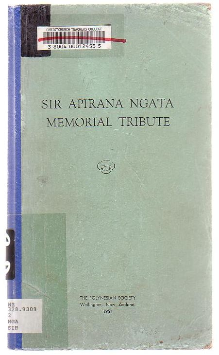 Image for Sir Apirana Ngata Memorial Tribute