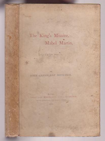 Image for The King's Missive, Mabel Martin, and Later Poems