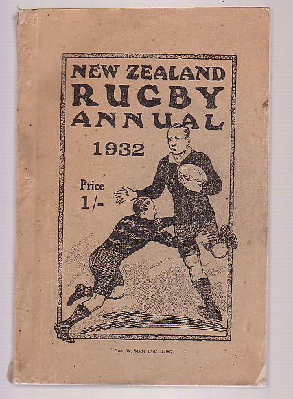 Image for New Zealand Rugby Annual 1932