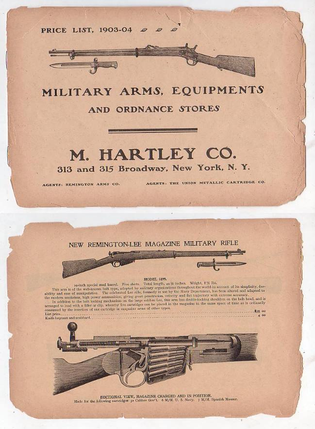 Image for Military Arms, Equipments and Ordnance Stores. Price List, 1903-04 Agents: Remington Arms Co. Agents: The Union Metallic Cartridge Co.