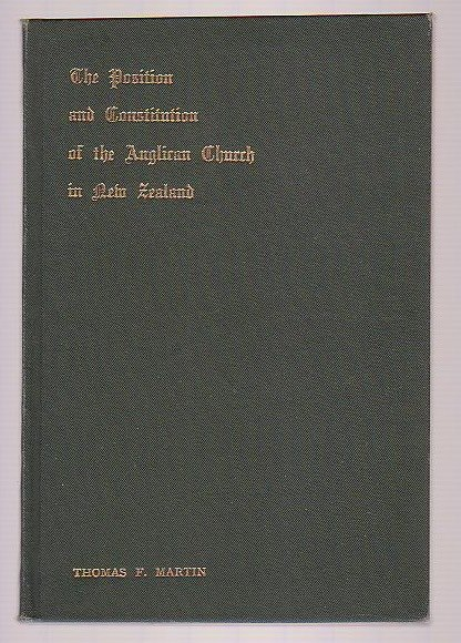 Image for The Position and Constitution of the Anglican Church in New Zealand
