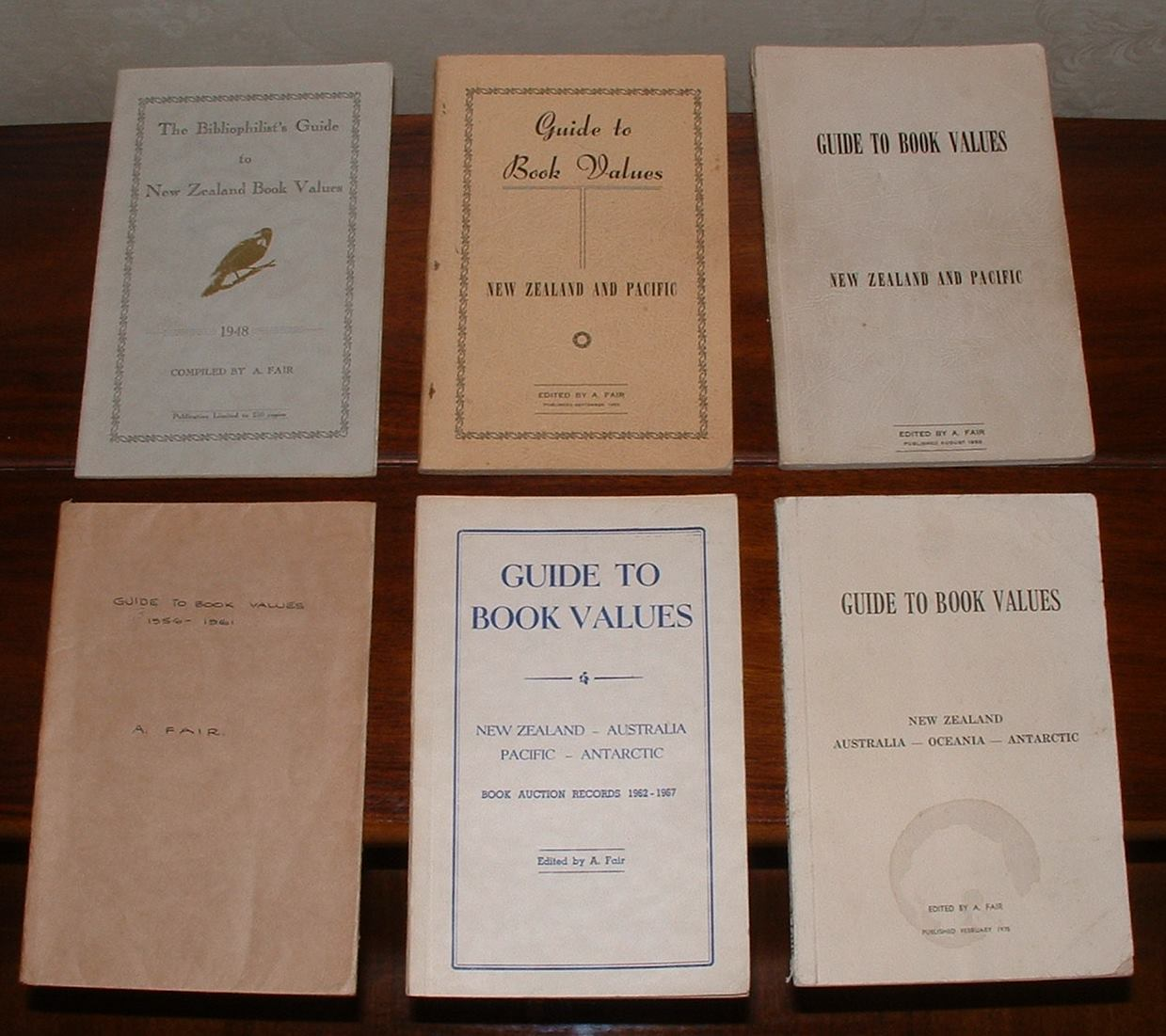 Image for Guide to Book Values. New Zealand and Pacific. 6 volumes. 1948-1975