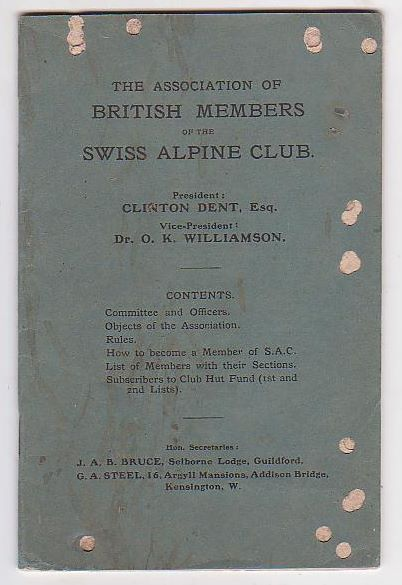 Image for The Association of British Members of the Swiss Alpine Club