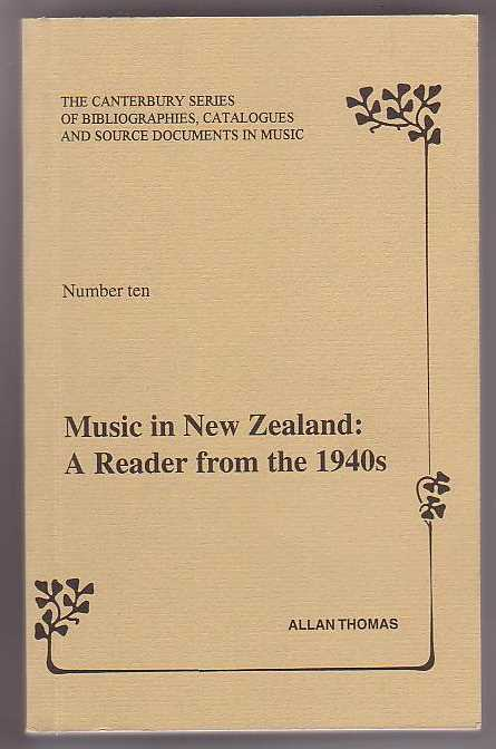 Image for Music in New Zealand: A Reader from the 1940s