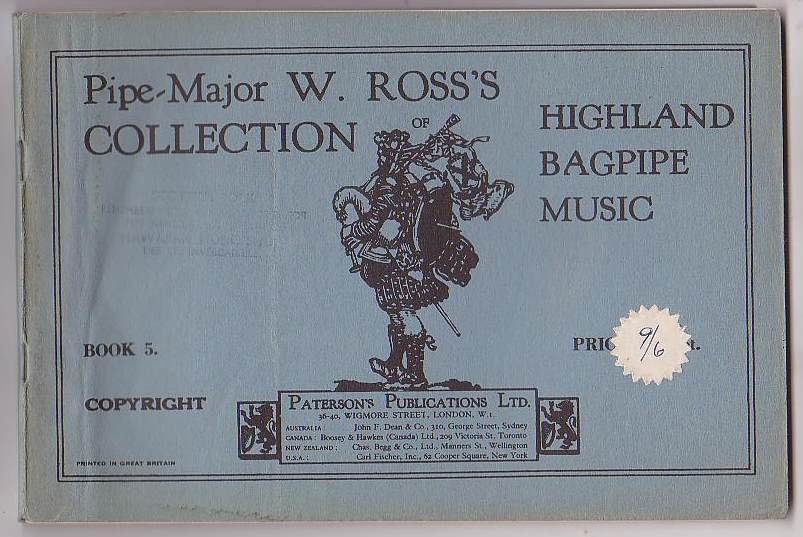 Image for Pipe-Major W. Ross's Collection of Highland Bagpipe Music. Book 5