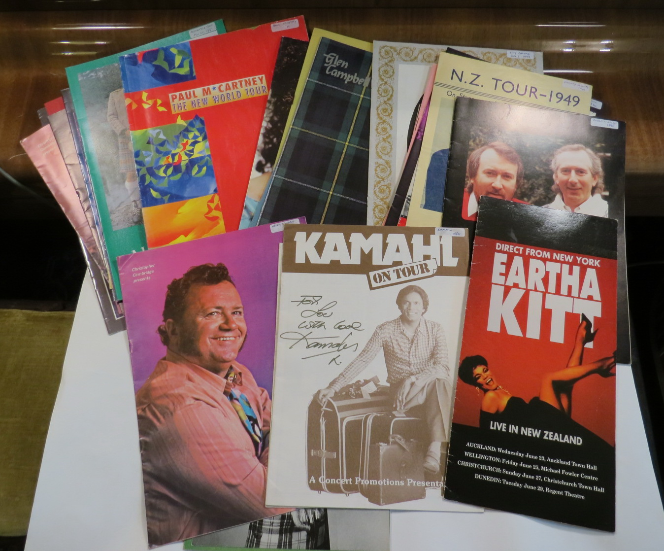 Image for Collection of 29 souvenir programmes from musicians' tours to New Zealand.