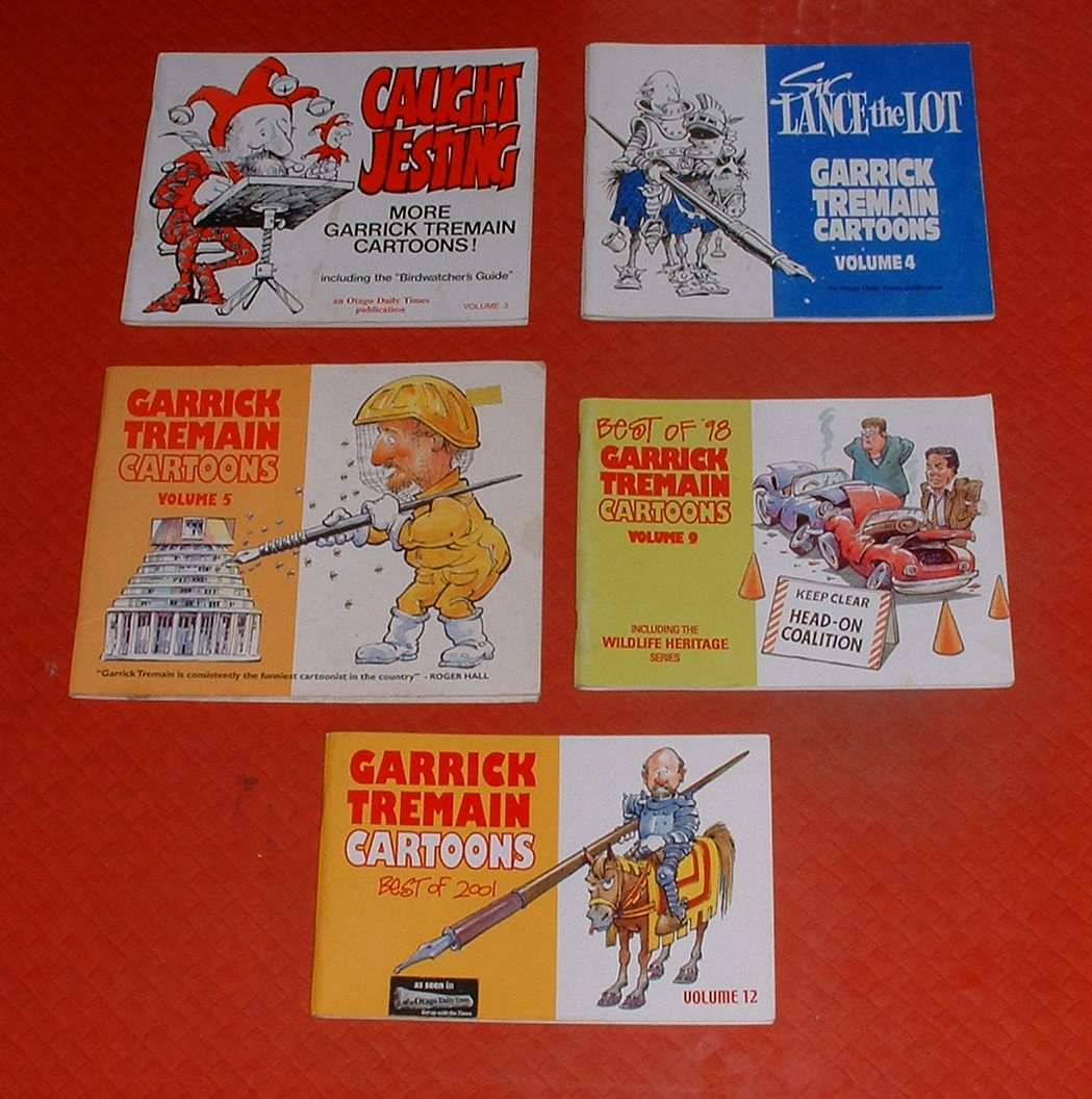 Image for Garrick Tremain Cartoons. Volumes 3, 4, 5, 9 & 12. [Five volumes in total]