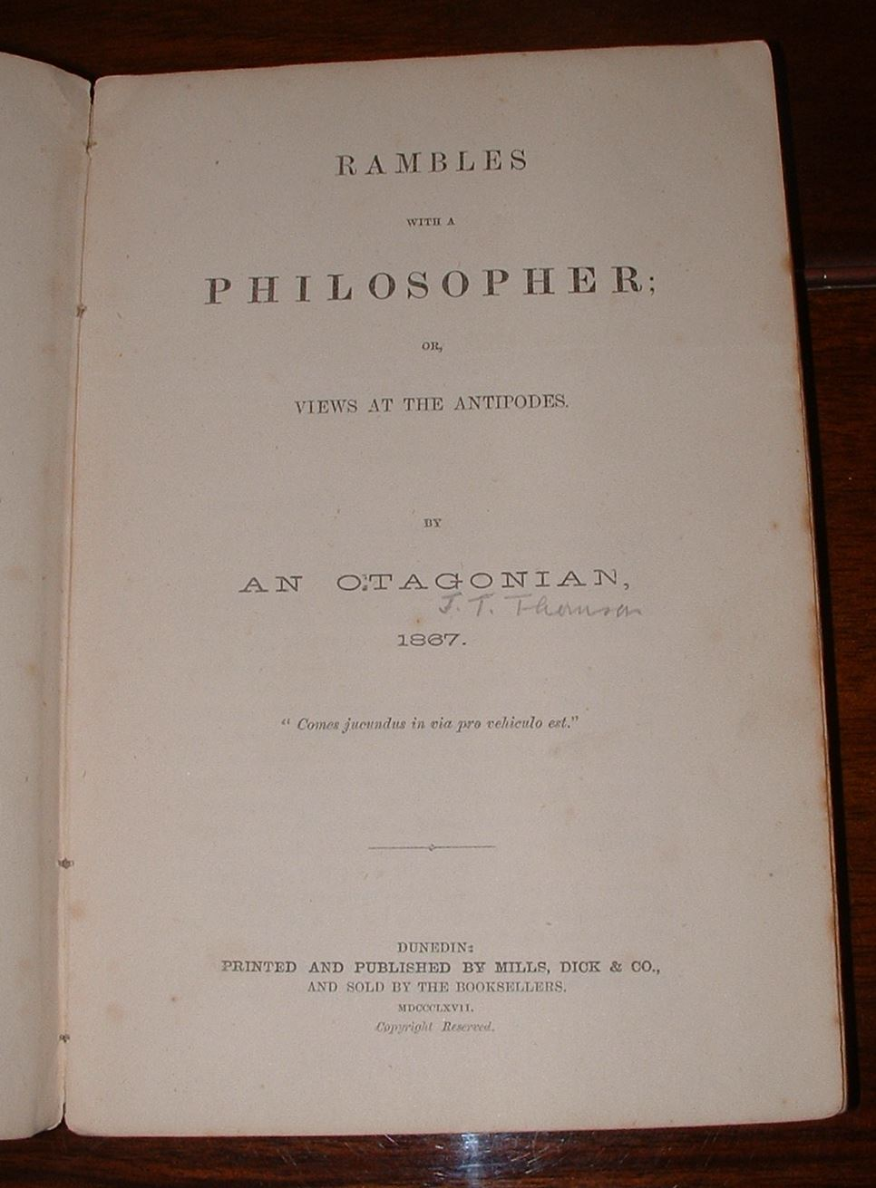 Image for Rambles with a Philosopher; or, Views at the Antipodes