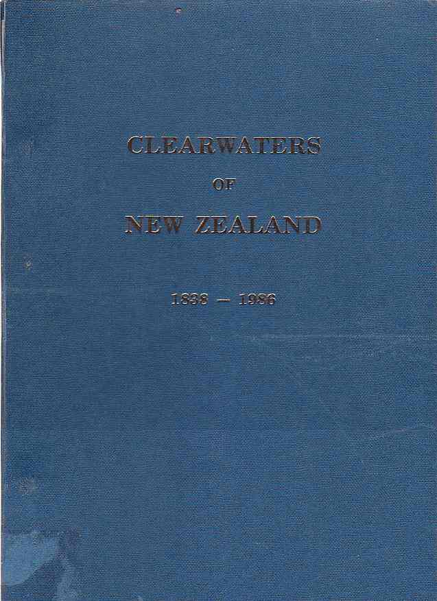 Image for Clearwaters of New Zealand 1838-1986