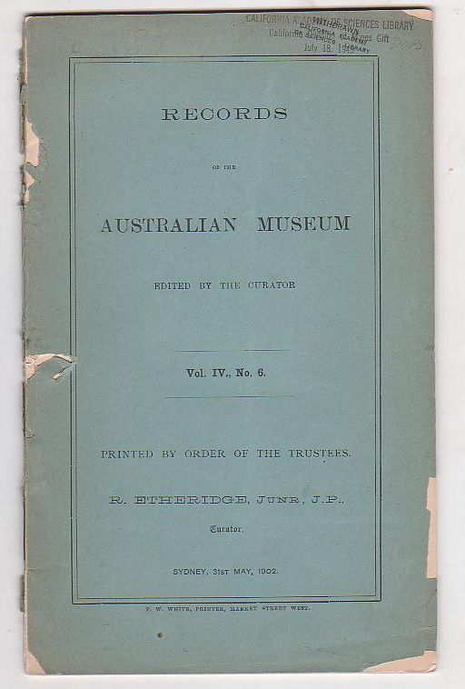 Image for Records of the Australian Museum. Vol. IV, No. 6.