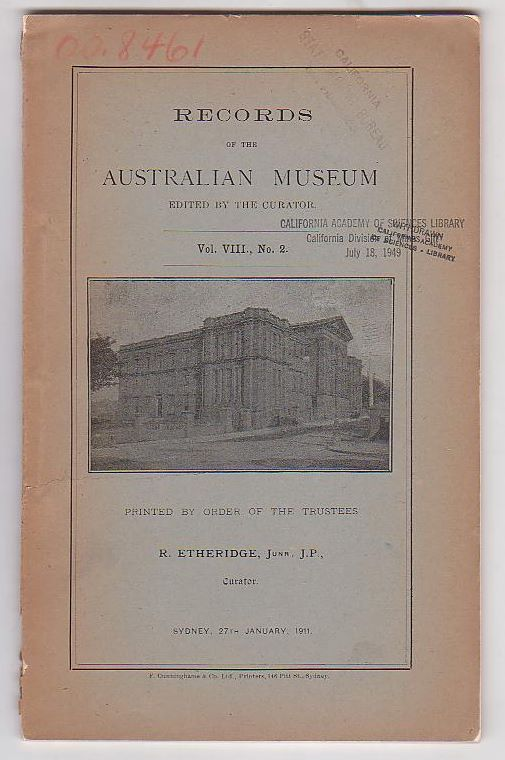 Image for Records of the Australian Museum. Vol. VIII, No. 2.