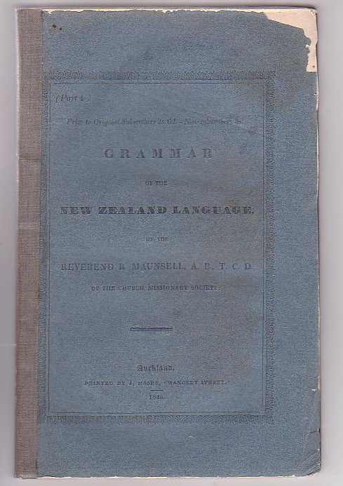 Image for Grammar of the New Zealand Language. Part 4.