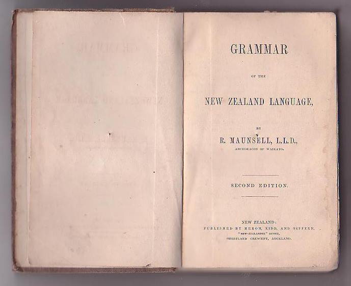 Image for Grammar of the New Zealand Language