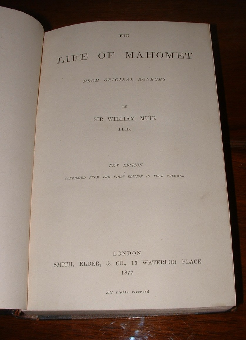Image for The Life of Mahomet from original sources