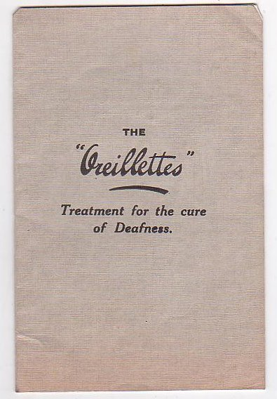 "Image for The ""Oreillettes"" Treatment for the cure of Deafness"