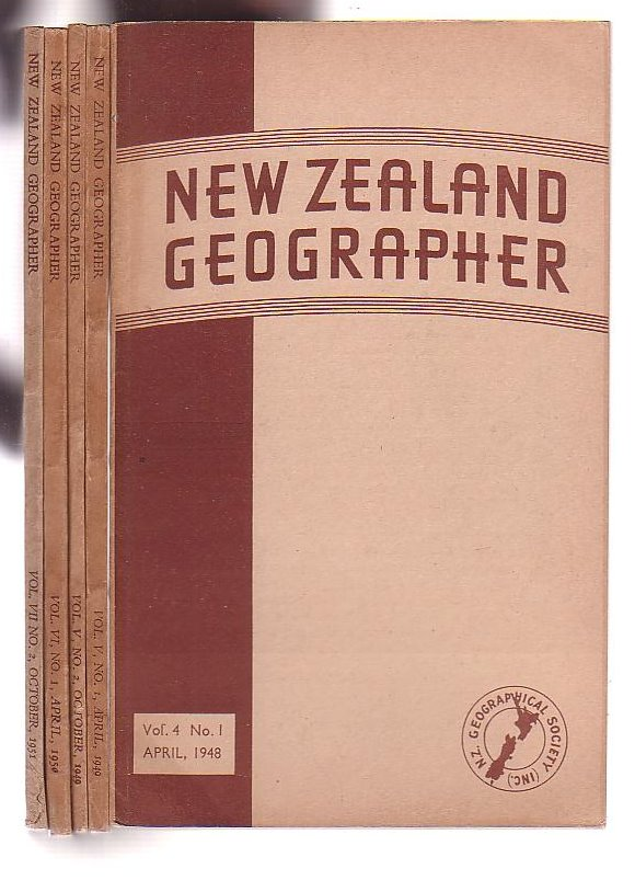 Image for New Zealand Geographer [five assorted issues]