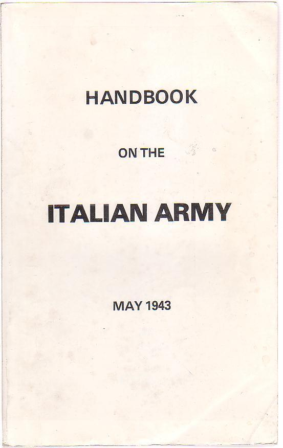 Image for Handbook on the Italian Army