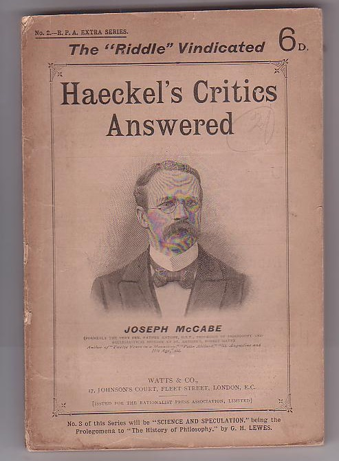 Image for Haeckel's Critics Answered