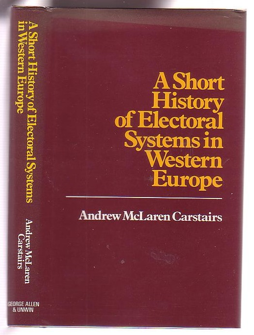 Image for A Short History of Electoral Systems in Western Europe
