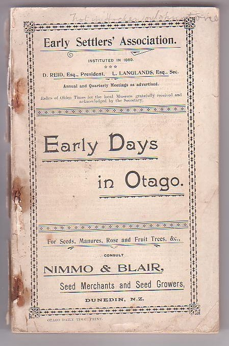 Image for Early Days in Otago