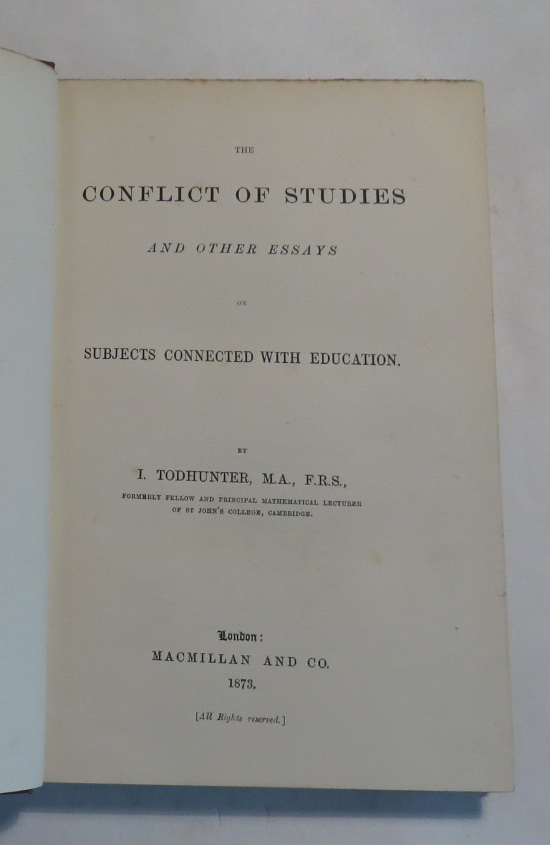 Image for The Conflict of Studies and Other Essays on Subjects Concerned with Education