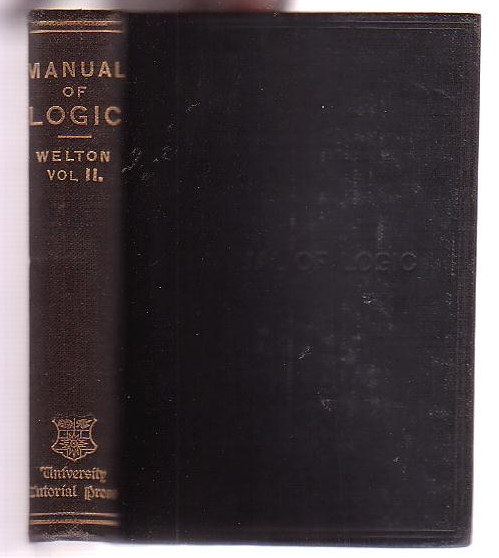 Image for A Manual of Logic. Volume II.