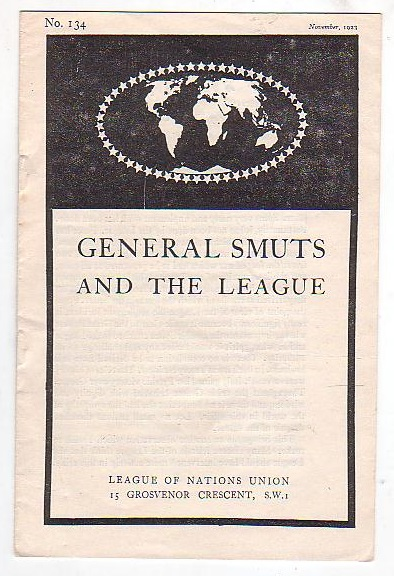 Image for General Smuts and the League