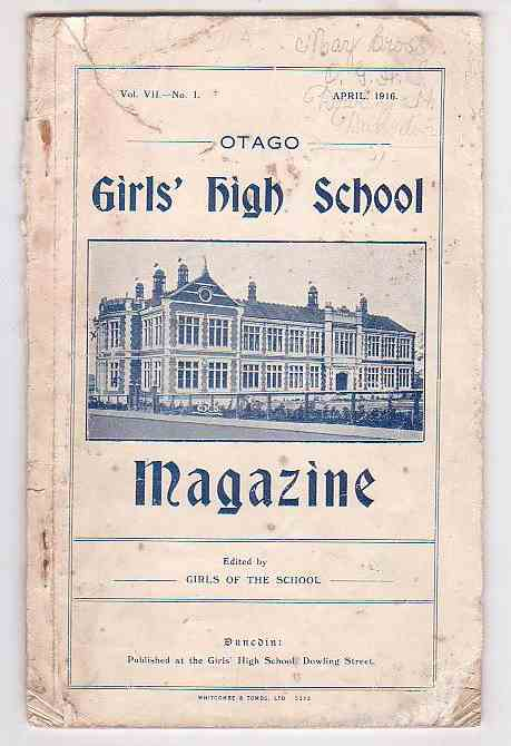 Image for Otago Girls' High School Magazine. Vol. VII. No. 1. April, 1916