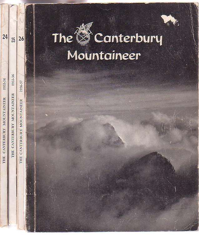 Image for The Canterbury Mountaineer: Journal of the Canterbury Mountaineering Club. 4 issues, Nos. 24, 25, 26 & 27. 1954-55, 1955-56, 1956-57, 1957-58.