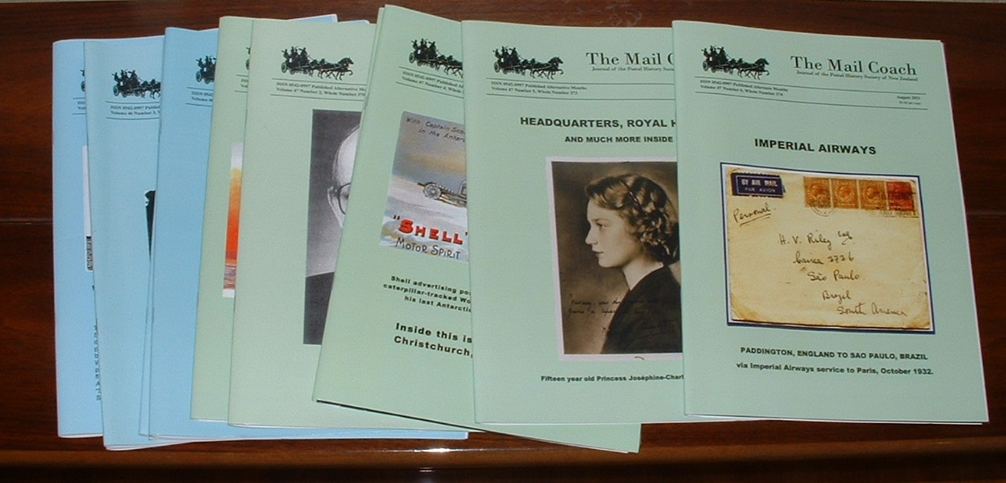 Image for The Mail-Coach: Journal of the Postal History Society of New Zealand [run of 12 issues]