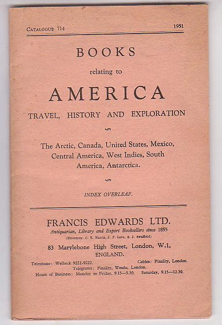 Image for Books relating to America: Travel, History and Exploration - The Arctic, Canada, United States, Mexico, Central America, West Indies, South America, Antarctica