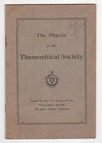 Image for The Objects of the Theosophical Society