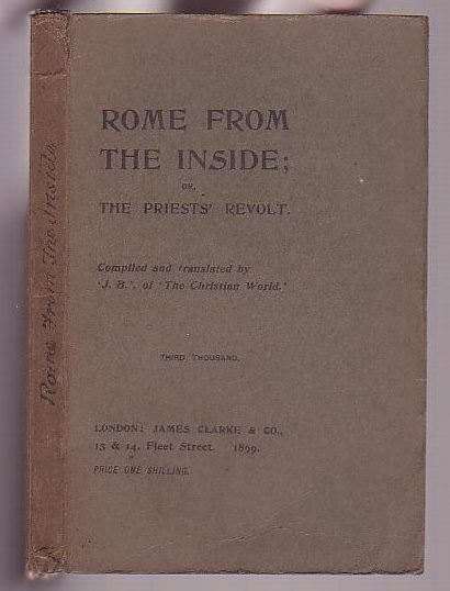 Image for Rome from the Inside: or, The Priests' Revolt
