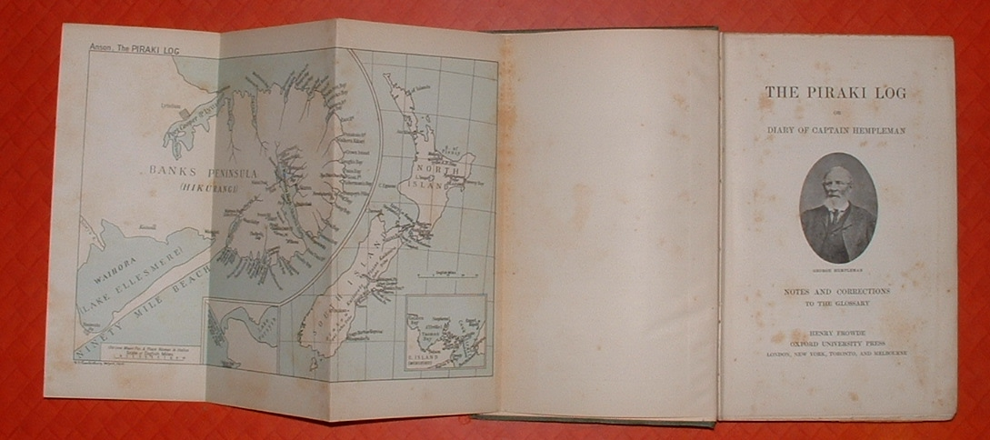 Image for The Piraki Log (e Pirangi ahau koe) or Diary of Captain Hempleman with Introduction, Glossary[,] Illustrations and Map