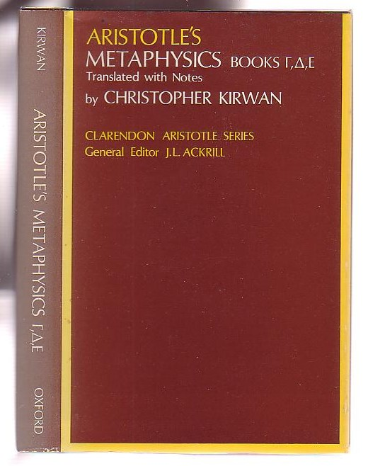 Image for Aristotle's Metaphysics Books [Gamma, Delta, and Epsilon]