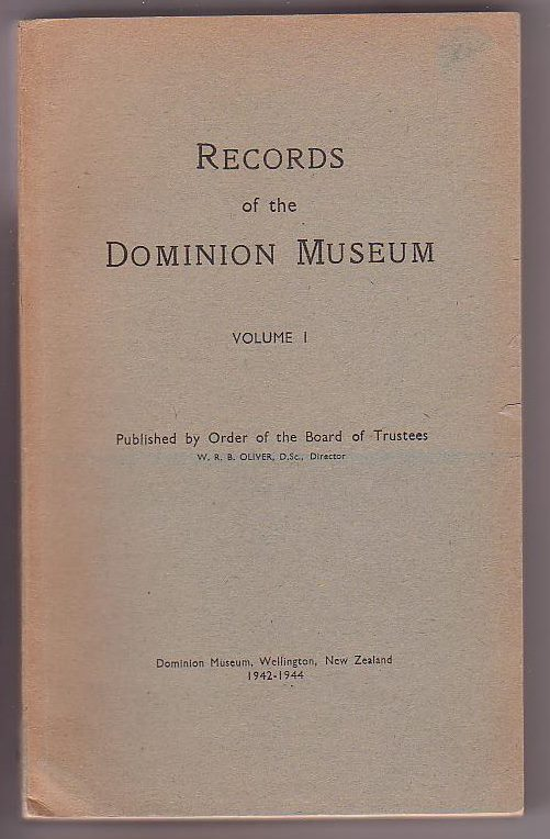 Image for Records of the Dominion Museum, Volume I, [No. 2]
