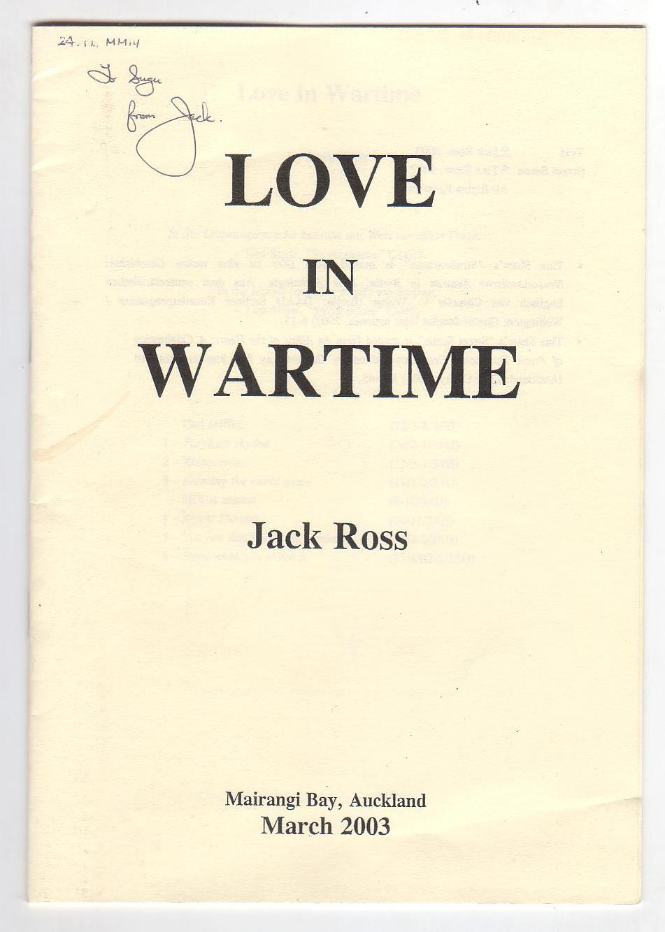 Image for Love in Wartime