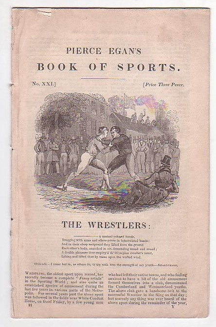 Image for The Wrestlers [extract from Pierce Egan's Book of Sports]