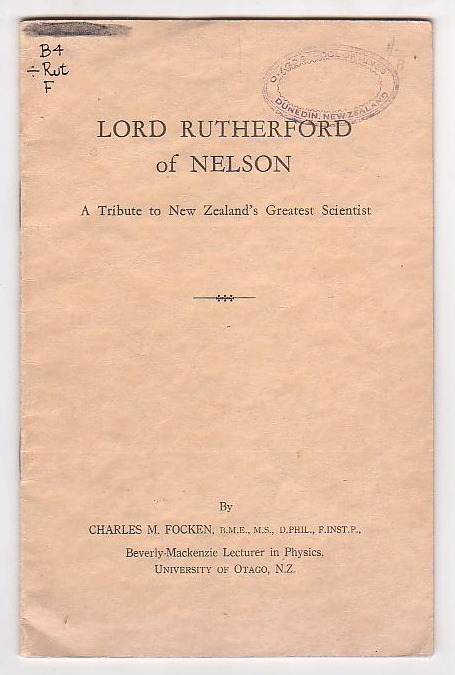 Image for Lord Rutherford of Nelson: A Tribute to New Zealand's Greatest Scientist