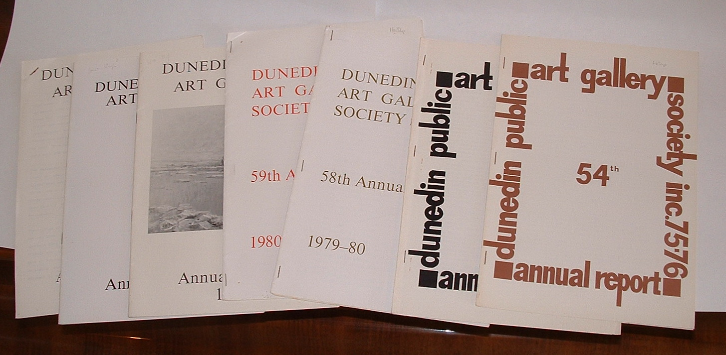 Image for [bundle of 7 Dunedin Public Art Gallery Society Annual Reports: 1975-76; 1978-79; 1979-80; 1980-81; 1982; 1983; 1988-89]