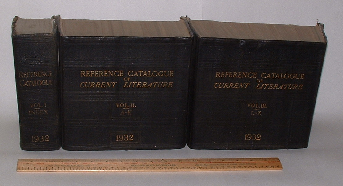 Image for Reference Catalogue of Current Literature 1932 (Three volumes)