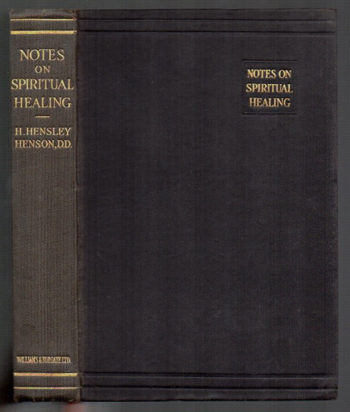 Image for Notes on Spiritual Healing