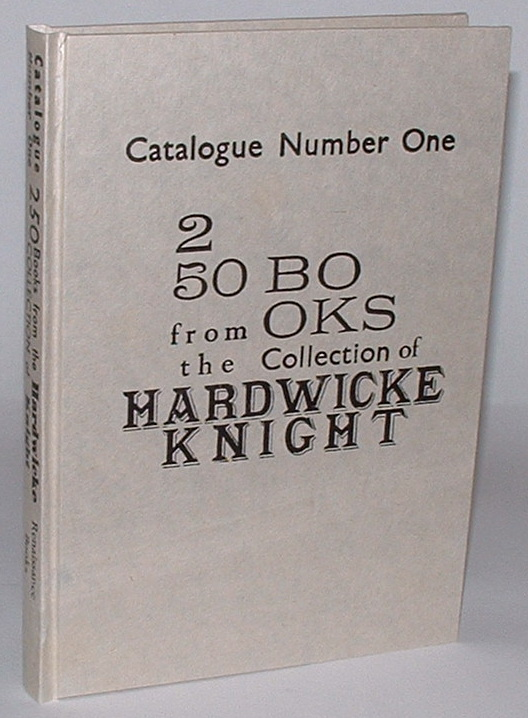 Image for Catalogue Number One: 250 Books from the Collection of Hardwicke Knight