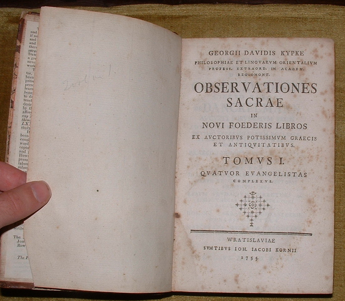 Image for Observationes Sacrae in Novi Foederis Libros
