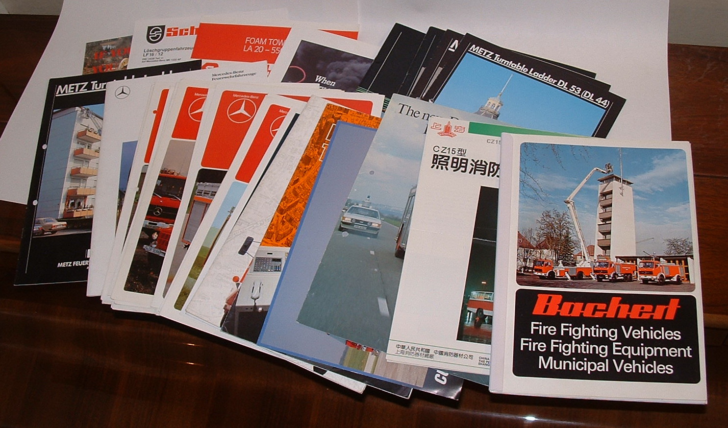 Image for [Fire fighting vehicles - bundle of 33 manufacturer's brochures]
