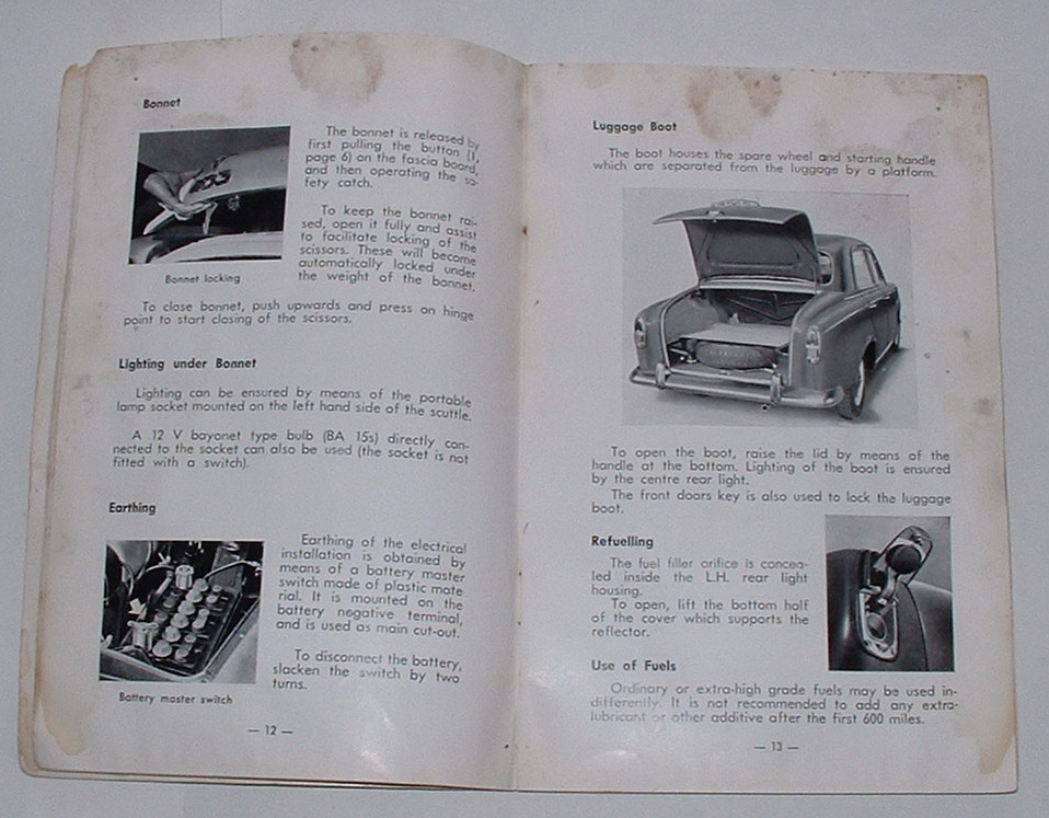 Image for Peugeot 403 Instruction Book