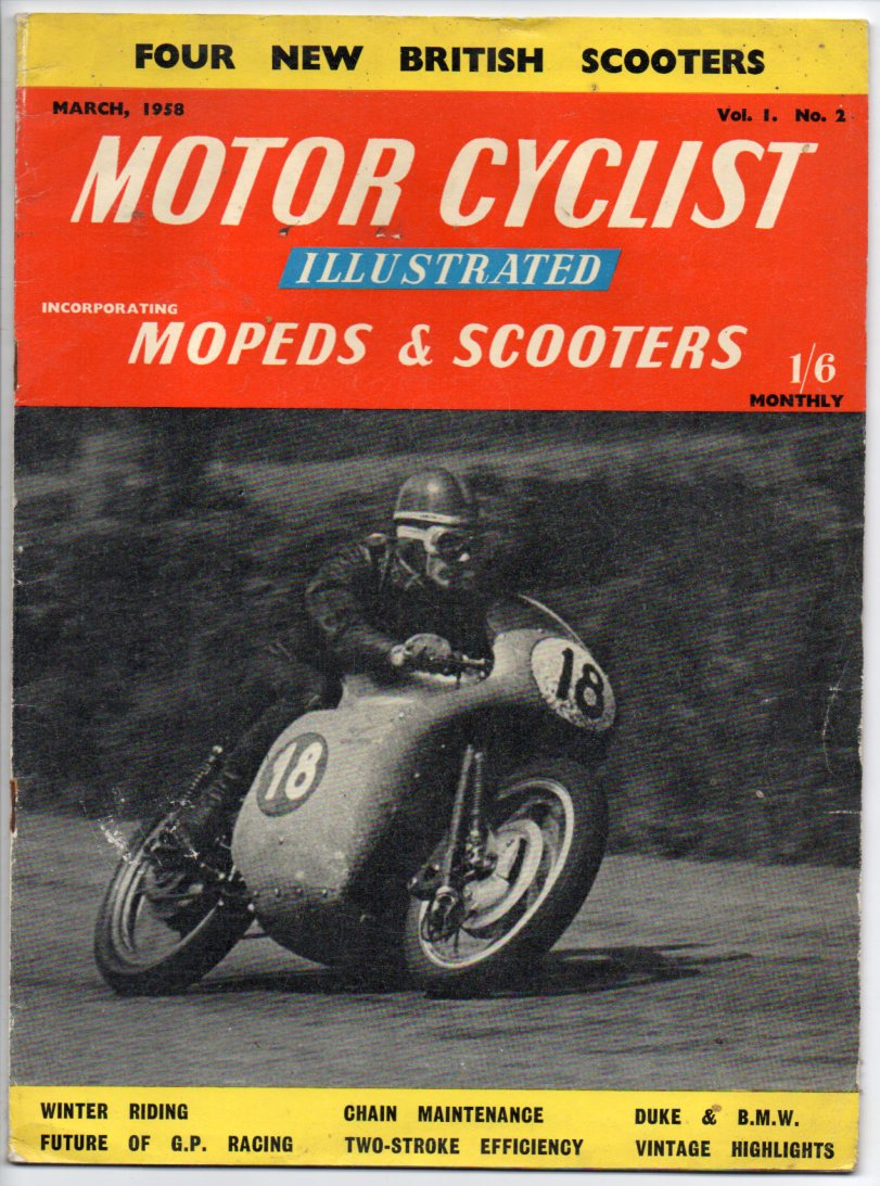 Image for Motor Cyclist Illustrated incorporating Mopeds & Scotters - March, 1958 - Vol. 1. No. 2
