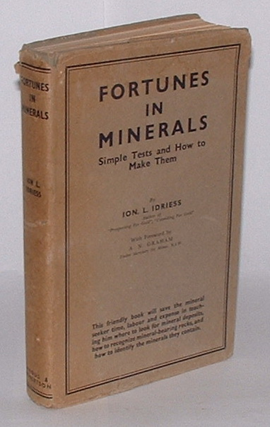 Image for Fortunes in Minerals: Simple Tests and How to Make Them